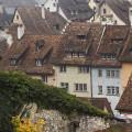 Верхушки крыш, Schaffhausen, Швейцария